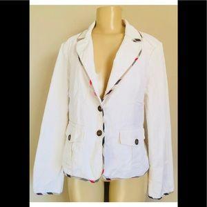 Jackets & Blazers - Lovely auth Burberry Denim  Trim Jacket Blazer